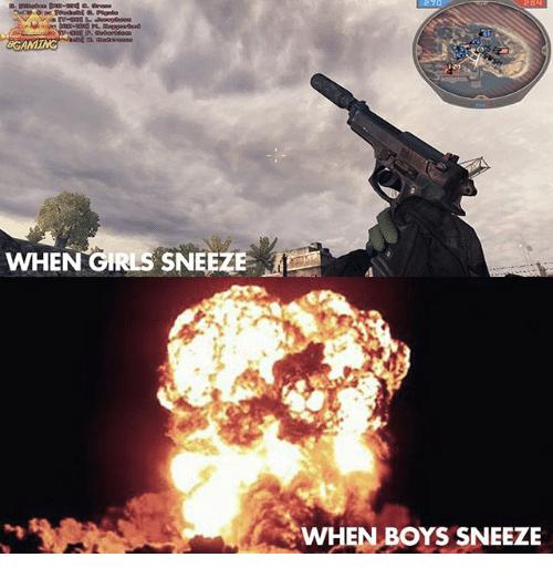 Girls, Memes, and Boys: 270  GAMTHG  WHEN GIRLS SNEEZE  WHEN BOYS SNEEZE