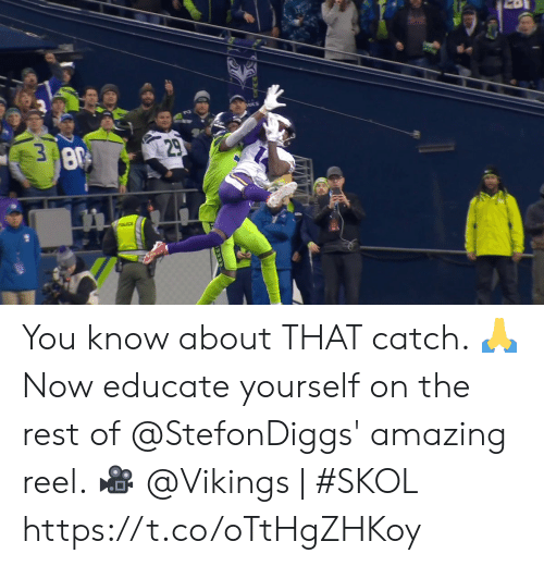 Vikings: 29  3 8  POLICE You know about THAT catch. 🙏   Now educate yourself on the rest of @StefonDiggs' amazing reel. 🎥   @Vikings | #SKOL https://t.co/oTtHgZHKoy
