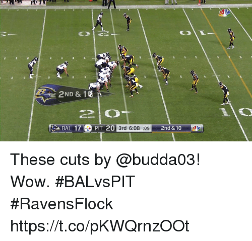 Memes, Wow, and 🤖: 2ND & 1%  BAL 17PIT 20 3rd 6:08 :09 2nd & 10 These cuts by @budda03!  Wow. #BALvsPIT #RavensFlock https://t.co/pKWQrnzOOt