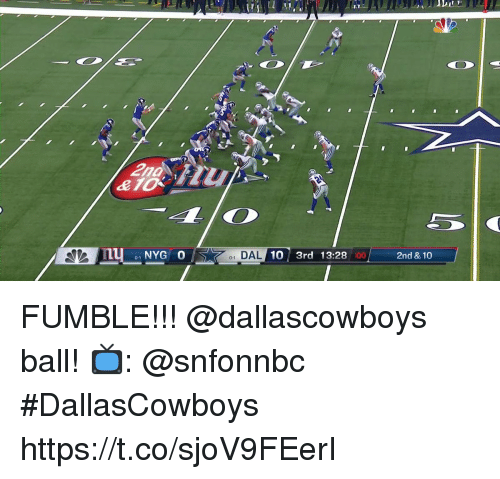 elo: 2nd  elo  1 DAL  10 3rd 13:28  :00  2nd & 10  0-1 FUMBLE!!!  @dallascowboys ball!  📺: @snfonnbc #DallasCowboys https://t.co/sjoV9FEerI