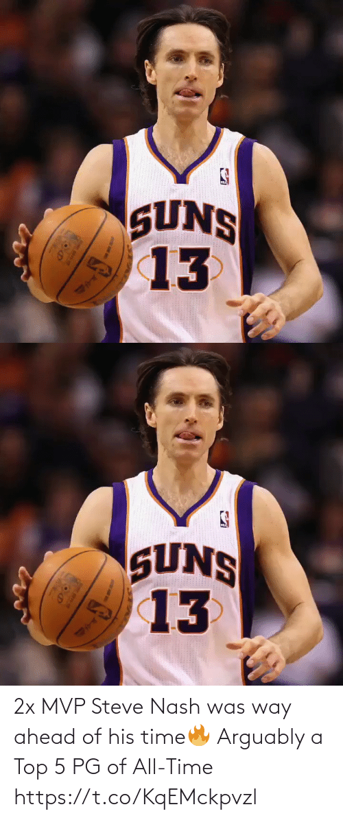 All Time: 2x MVP Steve Nash was way ahead of his time🔥  Arguably a Top 5 PG of All-Time https://t.co/KqEMckpvzl