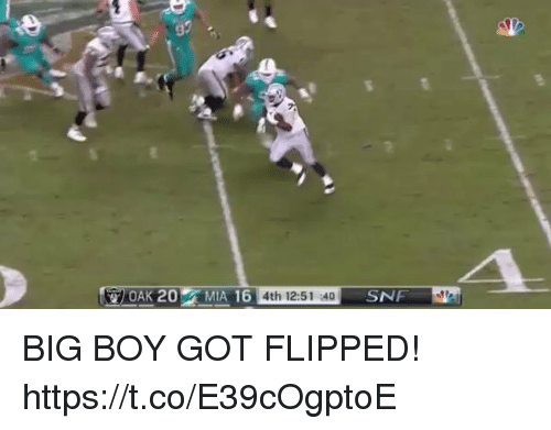Football, Nfl, and Sports: 3  4th 12:51 :40 BIG BOY GOT FLIPPED!   https://t.co/E39cOgptoE