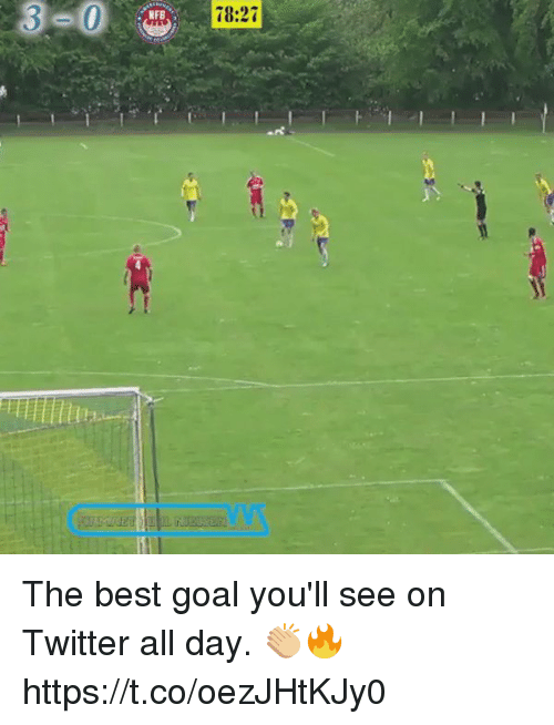 best goals: 3  78:27 The best goal you'll see on Twitter all day. 👏🏼🔥 https://t.co/oezJHtKJy0