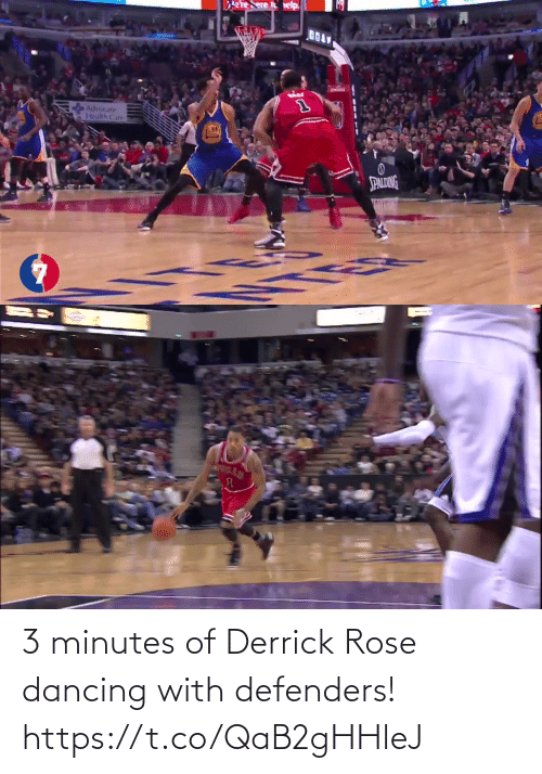 Rose: 3 minutes of Derrick Rose dancing with defenders!    https://t.co/QaB2gHHleJ