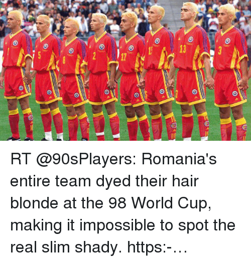 Motivational Quotes For Sports Teams: 3 Nil 2 RT Romania's Entire Team Dyed Their Hair Blonde At