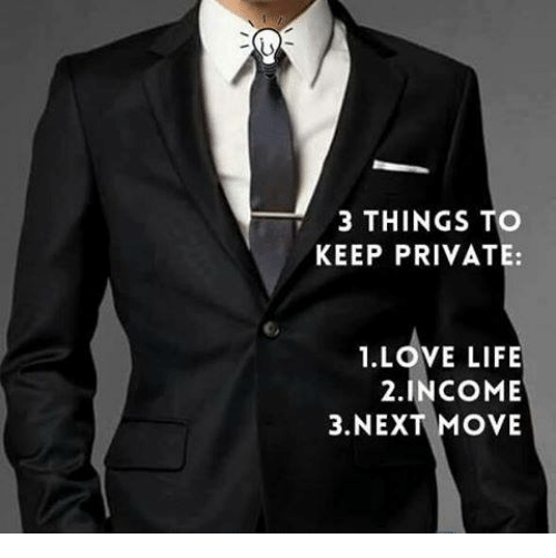 Life Love And Memes 3 THINGS TO KEEP PRIVATE 1 LOVE LIFE