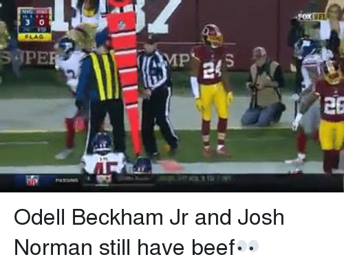 Beef, Beef, and Josh Norman: 30  러  6  2  관.aiE  E Odell Beckham Jr and Josh Norman still have beef👀