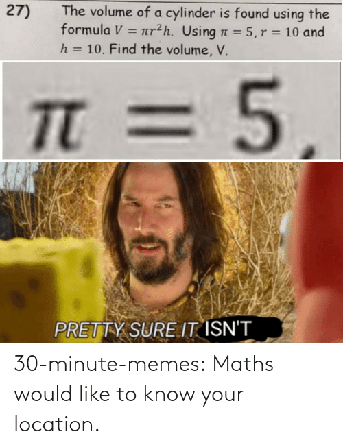 Know Your: 30-minute-memes:  Maths would like to know your location.