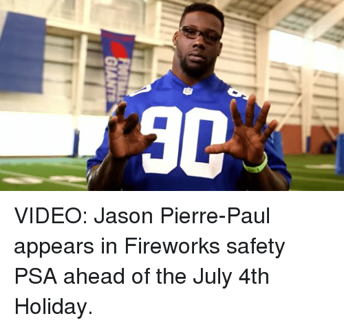 Jason Pierre Paul What Kind Of Firework: Funny NFL, Sports, And Videos Memes Of 2016 On SIZZLE