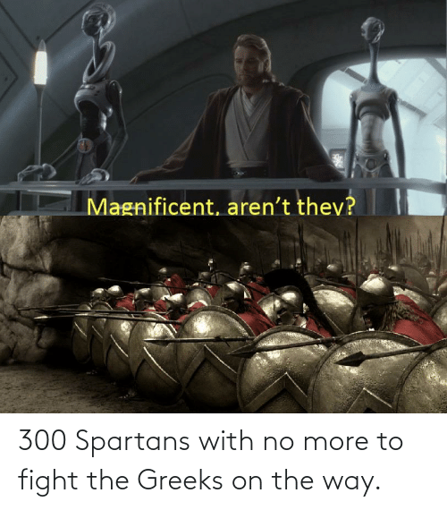 spartans: 300 Spartans with no more to fight the Greeks on the way.