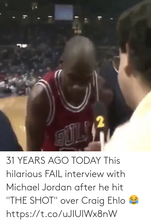 """FAIL: 31 YEARS AGO TODAY This hilarious FAIL interview with Michael Jordan after he hit """"THE SHOT"""" over Craig Ehlo 😂   https://t.co/uJIUIWx8nW"""