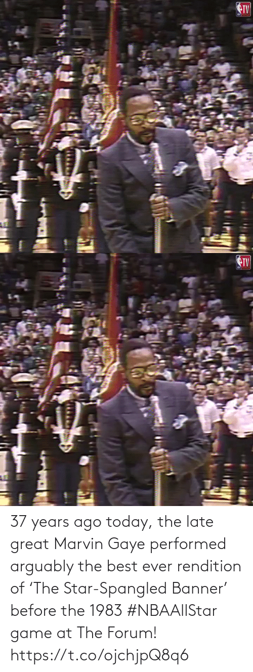 star spangled banner: 37 years ago today, the late great Marvin Gaye performed arguably the best ever rendition of 'The Star-Spangled Banner' before the 1983 #NBAAllStar game at The Forum!    https://t.co/ojchjpQ8q6
