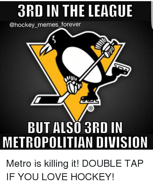 Hockey, Love, and Memes: 3RD IN THE LEAGUE  @hockey memes forever  BUT ALSO 3RD IN  METROPOLITIAN DIVISION Metro is killing it! DOUBLE TAP IF YOU LOVE HOCKEY!