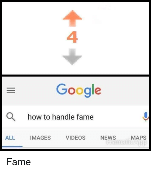 How To Handle Fame: 4  Google  O  how to handle fame  ALL  IMAGES  VIDEOS  NEWS  MAPS <p>Fame</p>