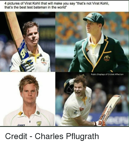 """4 Pictures: 4 pictures of Virat Kohli that will make you say """"that's not Virat Kohli,  that's the best test batsman in the world""""  Public Displays of Cricket Affection Credit - Charles Pflugrath"""