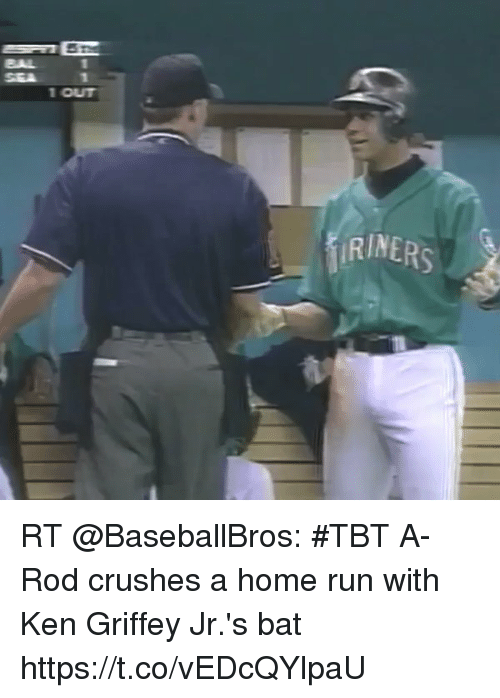 kenning: 42  SEA  1 OUT  RINERS RT @BaseballBros: #TBT A-Rod crushes a home run with Ken Griffey Jr.'s bat https://t.co/vEDcQYlpaU