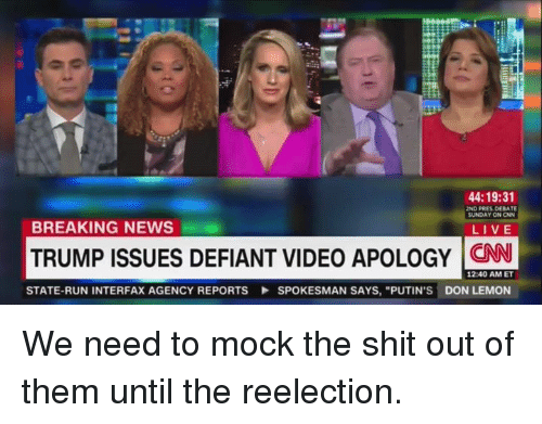 breaking news trump issues defiant video apology state