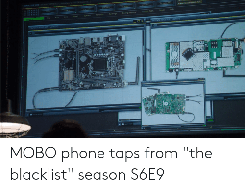 """the blacklist: 444 102Aosis  Centigurations  Access Tools  ResetHelp  File  Eait  Select  System  windows  Settings  BL/CATA-IMAGE-SET LOCKED  XFS/DATA-IMAGE-SET TLOCKED  ES MOBO phone taps from """"the blacklist"""" season S6E9"""