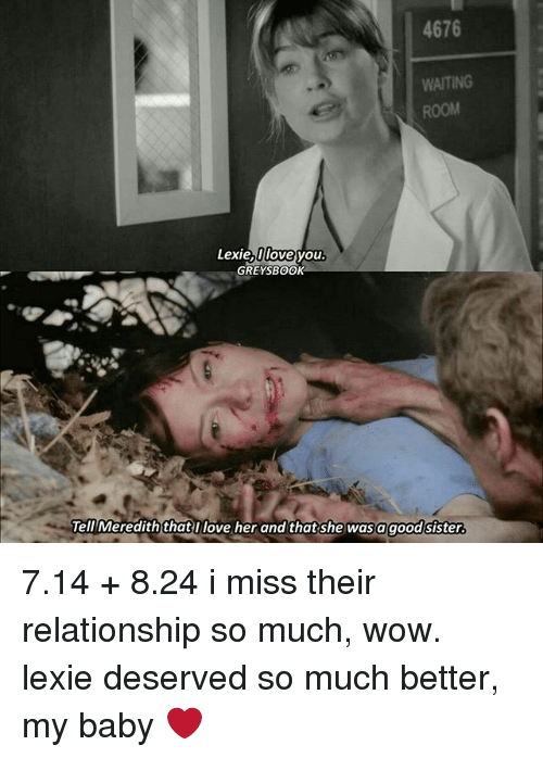 lexie and meredith relationship problems