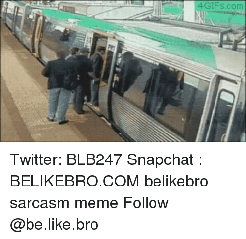 Be Like, Memes, and Snapchat: 4GIFs.com Twitter: BLB247 Snapchat : BELIKEBRO.COM belikebro sarcasm meme Follow @be.like.bro