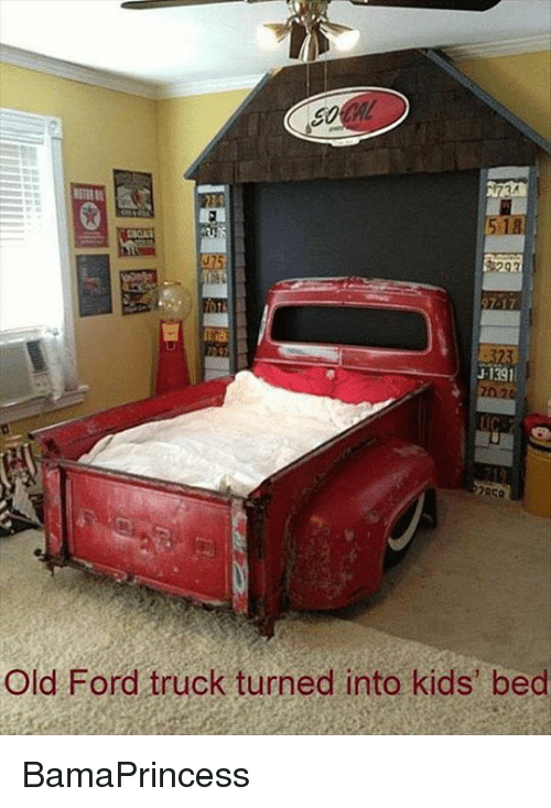 ford truck: 5,18  Old Ford truck turned into kids' bed BamaPrincess
