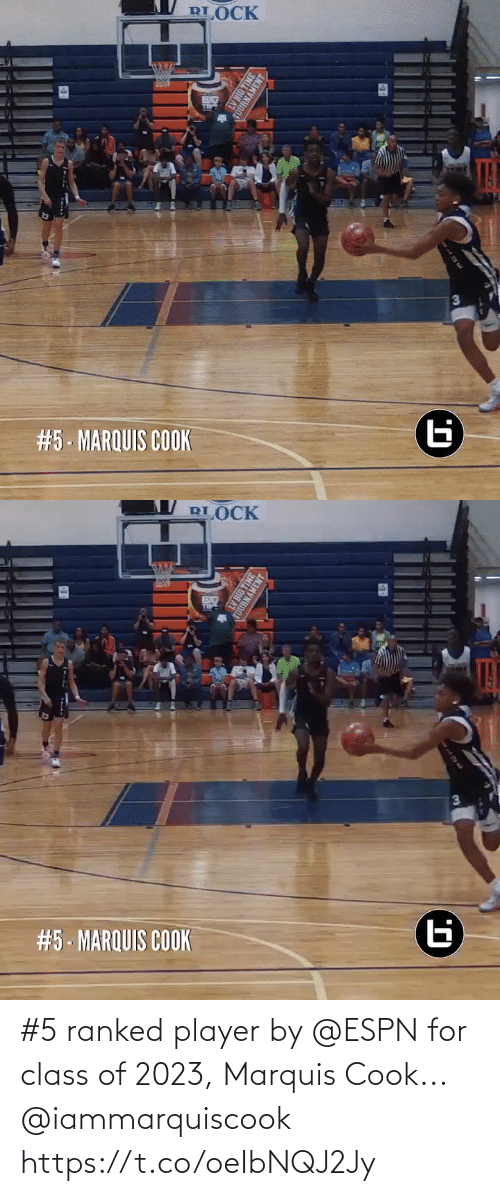 player: #5 ranked player by @ESPN for class of 2023, Marquis Cook... @iammarquiscook https://t.co/oeIbNQJ2Jy