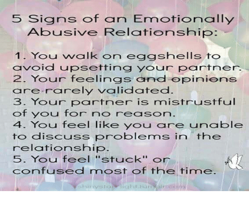 5 Signs Of An Abusive Relationship