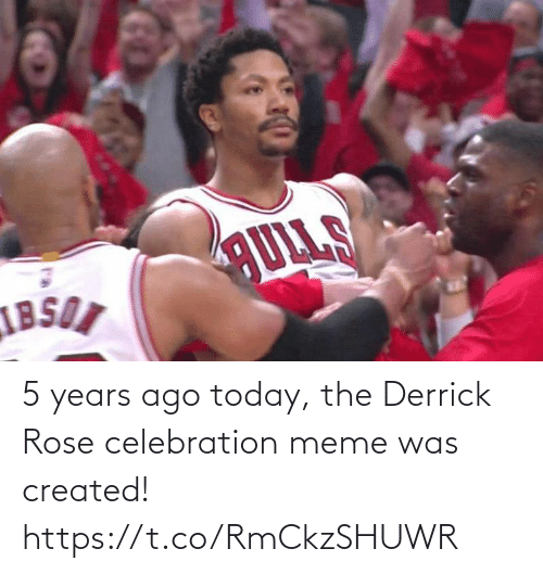 Derrick Rose: 5 years ago today, the Derrick Rose celebration meme was created! https://t.co/RmCkzSHUWR