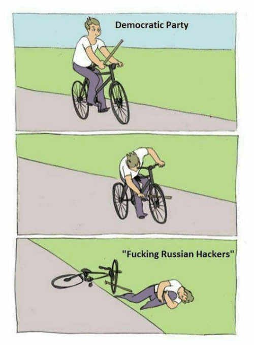 """Memes, Democratic Party, and Hackers: 50 Democratic Party  """"Fucking Russian Hackers"""""""
