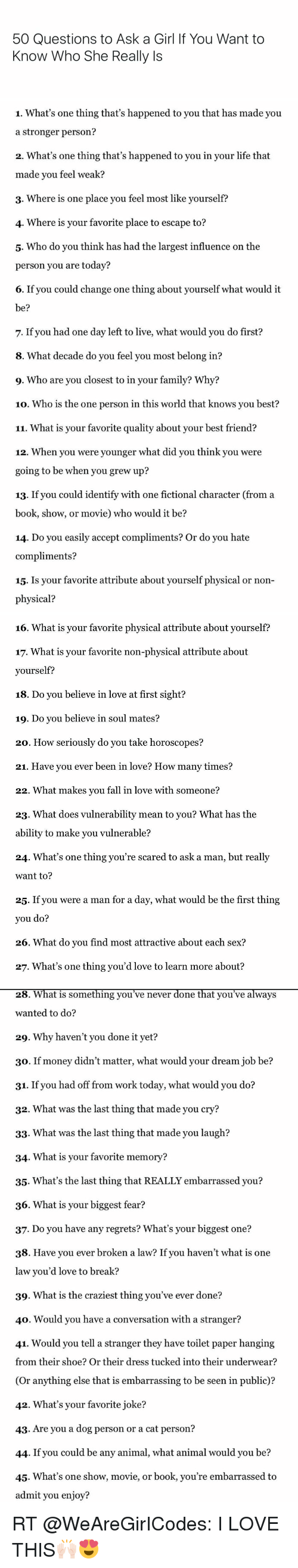 Best sexual questions to ask a girl