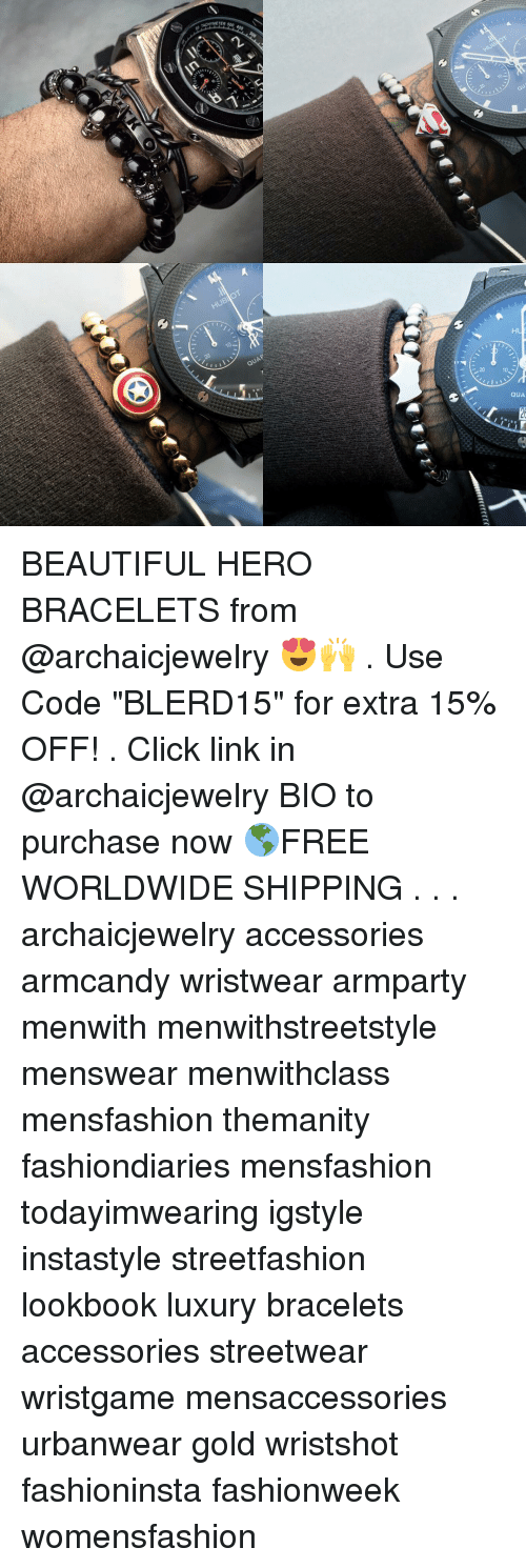 "Memes, 300, and 🤖: 500, 400, 300  ACHYMETER QUA BEAUTIFUL HERO BRACELETS from @archaicjewelry 😍🙌 . Use Code ""BLERD15"" for extra 15% OFF! . Click link in @archaicjewelry BIO to purchase now 🌎FREE WORLDWIDE SHIPPING . . . archaicjewelry accessories armcandy wristwear armparty menwith menwithstreetstyle menswear menwithclass mensfashion themanity fashiondiaries mensfashion todayimwearing igstyle instastyle streetfashion lookbook luxury bracelets accessories streetwear wristgame mensaccessories urbanwear gold wristshot fashioninsta fashionweek womensfashion"