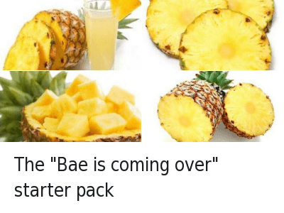 "Bae, Come Over, and Starter Packs: The ""Bae is coming over"" starter pack"