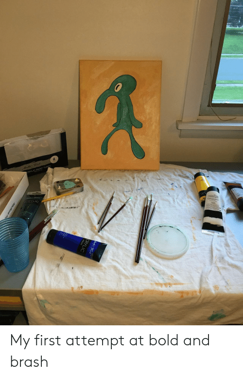 tubes: 6  CRYLIC PAINT TUBES My first attempt at bold and brash