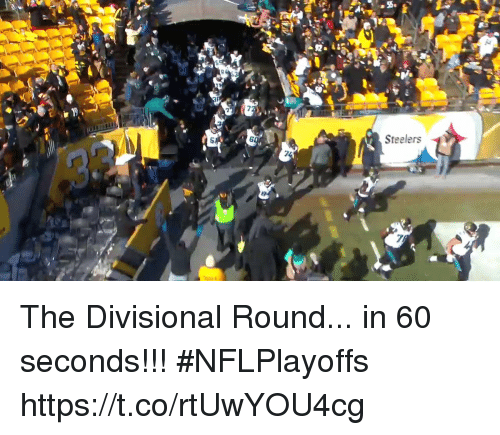 Memes, Steelers, and 🤖: 6  Steelers The Divisional Round... in 60 seconds!!! #NFLPlayoffs https://t.co/rtUwYOU4cg