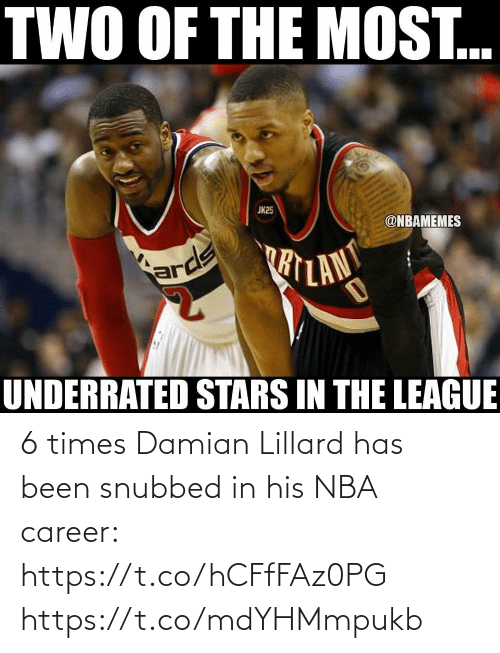 Has Been: 6 times Damian Lillard has been snubbed in his NBA career: https://t.co/hCFfFAz0PG https://t.co/mdYHMmpukb