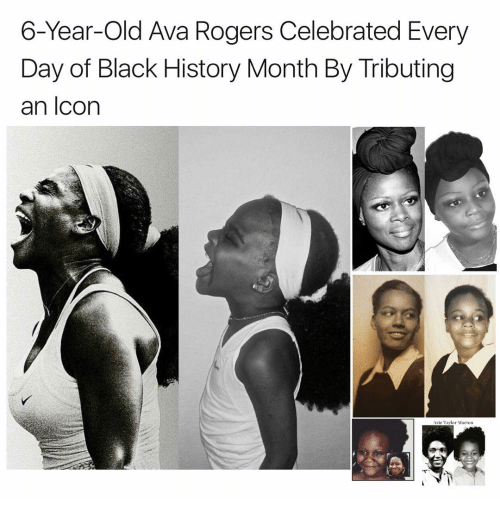 Tribution: 6-Year-old Ava Rogers Celebrated Every  Day of Black History Month By Tributing  an Icon  Arie Taylor