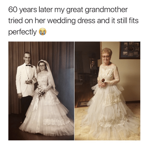 Bride Surprises Grandmother By Wearing Her Wedding Dress: 60 Years Later My Great Grandmother Tried On Her Wedding