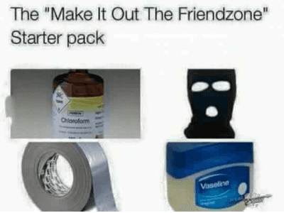"Friends, Friendzone, and Starter Packs: The ""Make It Out The Friendzone"" Starter pack http://t.co/X6ocDoaBPv"