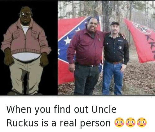 Doppelganger, The Boondocks, and Uncle Ruckus: When you find out Uncle Ruckus is a real person 😳😳😳