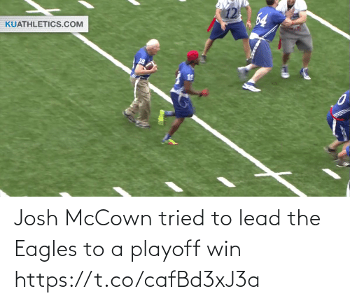 Philadelphia Eagles: 64  KUATHLETICS.COM Josh McCown tried to lead the Eagles to a playoff win https://t.co/cafBd3xJ3a