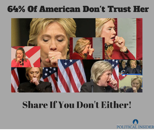 American, Her, and You: 64% of American Don't Trust Her