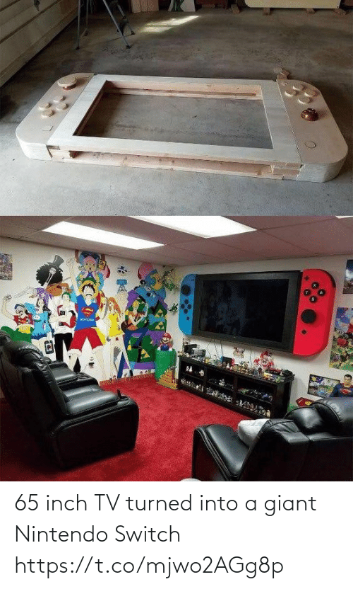 Into: 65 inch TV turned into a giant Nintendo Switch https://t.co/mjwo2AGg8p