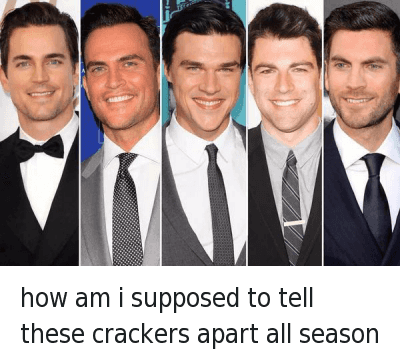Doppelganger, Funny Jokes, and White People: how am i supposed to tell these crackers apart all season how am i supposed to tell these crackers apart all season