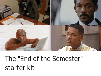 "Mfw, Michael Jordan Crying, and School: The ""End of the Semester"" starter kit The ""End of the Semester"" starter kit"