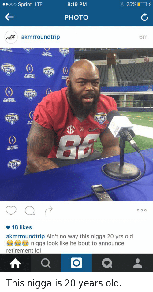 A'Shawn Robinson, Confused, and Crimson Tide: This nigga is 20 years old.   @akmrroundtrip Ain't no way this nigga 20 yrs old 😂😂😂 nigga look like he bout to announce retirement lol This nigga is 20 years old.