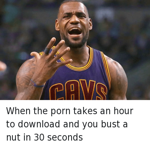 Basketball, Cleveland Cavaliers, and Computers: When the porn takes an hour to download and you bust a nut in 30 seconds
