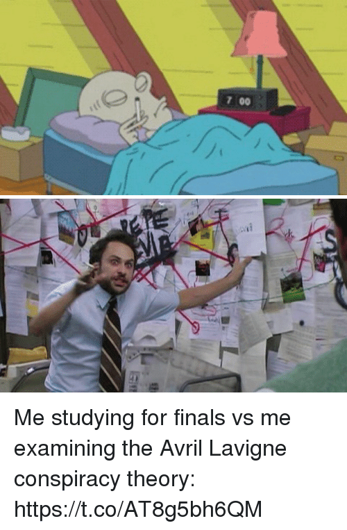 Finals, Funny, and Conspiracy: 7 00 th (6 3Me studying for finals vs ... Studying For Finals Funny