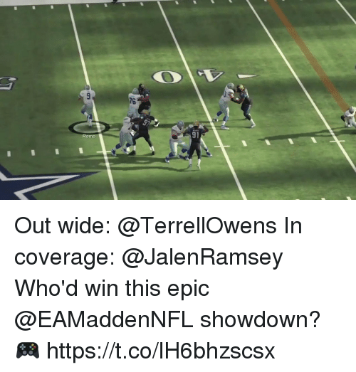 Memes, 🤖, and Epic: 76  9p  Romo  91 Out wide: @TerrellOwens In coverage: @JalenRamsey  Who'd win this epic @EAMaddenNFL showdown? 🎮 https://t.co/lH6bhzscsx