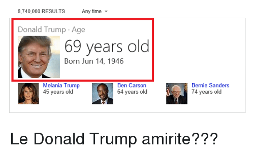 8 740 000 results any time donald trump age 69 years old 2717762 8740000 results any time donald trump age 69 years old born jun 14