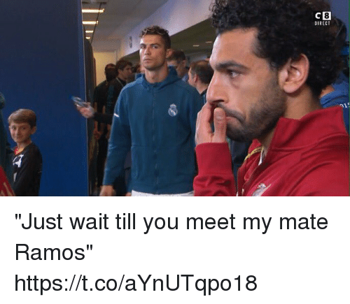 "Soccer, You, and Ramos: 8  OIRECT  CB ""Just wait till you meet my mate Ramos"" https://t.co/aYnUTqpo18"